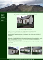 Springwell cottage self catering Fort William Scotland